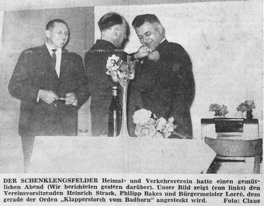 10 Jahre Heimatverein - Bild vom Familienabend am 12. Januar 1963