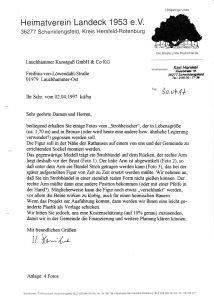 Anfrage an Firma Lauchhammer