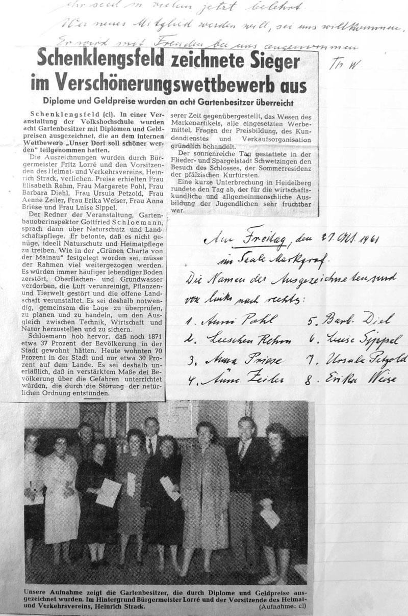 Unser Dorf soll schöner werden - Bericht vom 27. Oktober 1961