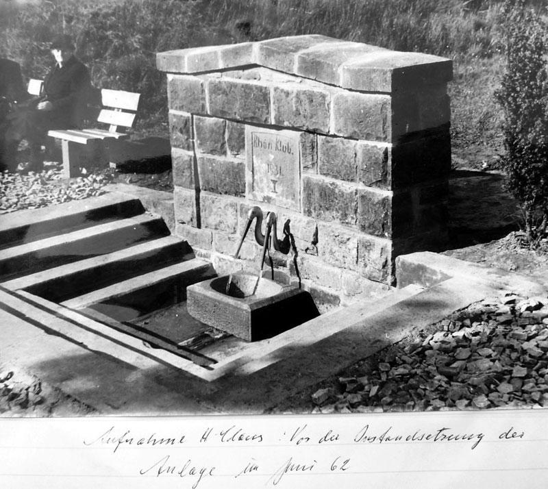 Aufnahme des Badebrunnens Juni 1962