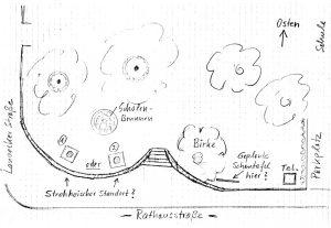 Skizze vom geplanten Standort