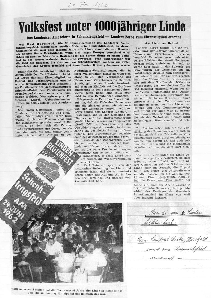 Lindenblütenfest 1962